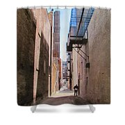 Alley W Guy Reading Shower Curtain