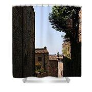 Alleyway In San Gimignano Shower Curtain