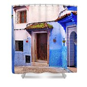 Alleyway In The Blue City Shower Curtain