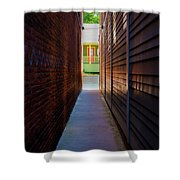 Alleyway To Green Shower Curtain