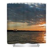 Alliance Sunset Sail Shower Curtain