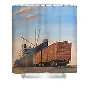 Allied Orient Lines Shower Curtain