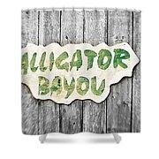 Alligator Bayou Shower Curtain by Scott Pellegrin