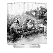 Alligator Hunt, 1888 Shower Curtain