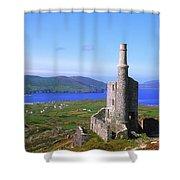 Allihies, Co Cork, Ireland Old Mine Shower Curtain