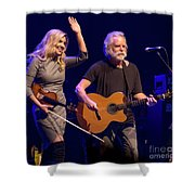 Allison Krauss And Bob Wier Shower Curtain