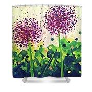 Allium Explosion Shower Curtain