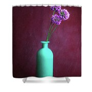 Allium Medusa Flower Shower Curtain