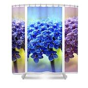 Allium Triptych Shower Curtain