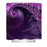 Alluring Purple Spiral Shower Curtain