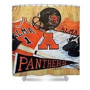 Alma High School Athletics Shower Curtain