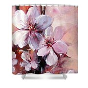 Almonds Blossom  12 Shower Curtain