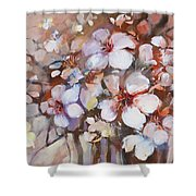 Almonds Blossom  2 Shower Curtain