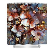 Almonds Blossom  3 Shower Curtain