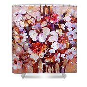 Almonds Blossom  5 Shower Curtain
