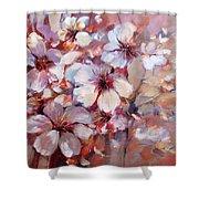 Almonds Blossom  6 Shower Curtain