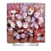 Almonds Blossom  8 Shower Curtain