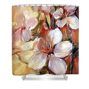 Almonds Blossom  9 Shower Curtain