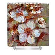 Almonds Blossom1 Shower Curtain