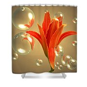 Almost A Blossom In Bubbles Shower Curtain