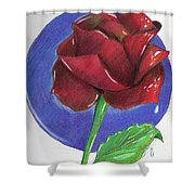 Almost Black Rose Shower Curtain