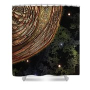 Almost Cosmos Shower Curtain