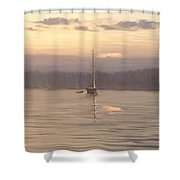 Almost Daytime On The Waters Shower Curtain