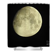 Almost Full Moon  Shower Curtain