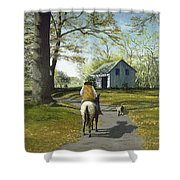 Almost Home 16x20 Shower Curtain