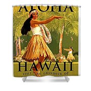 Aloha Hawaii, Hula Girl Dance Shower Curtain