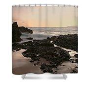 Aloha Paako Akahi Sunset Makena Maui Hawaii  Shower Curtain