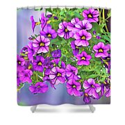 Aloha Purple Sky Calibrachoa Abstract I Shower Curtain