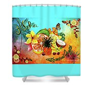 Aloha Tropical Fruits By Kaye Menner Shower Curtain