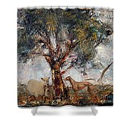 Alone Against Storms 5 Shower Curtain