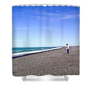 Alone And At Peace Shower Curtain