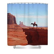 Alone At The Top Shower Curtain