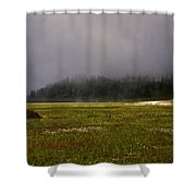 Alone In Fog Shower Curtain