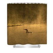 Alone In The Morning Fog Shower Curtain