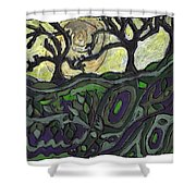 Alone In The Woods Shower Curtain