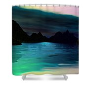 Alone On The Beach Shower Curtain