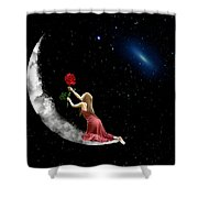 Alone On The Clouds Shower Curtain