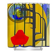 Alone With My Thoughts Shower Curtain