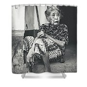 Balinese Old Woman Shower Curtain