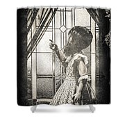 Along Came A Spider Shower Curtain by Bob Orsillo