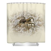 Along Came A Spider Shower Curtain