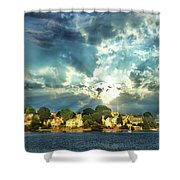 Along The North Shore - Ma Shower Curtain