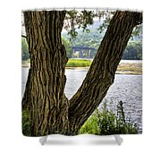 Along Route 104 Shower Curtain
