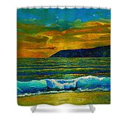 Along The African Coast Shower Curtain