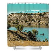 Along The Banks Of The Arkansas River Shower Curtain