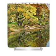 Along The C And O Canal Shower Curtain